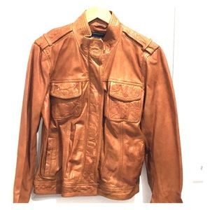 NEW Women's Lucky Brand Leather Jacket